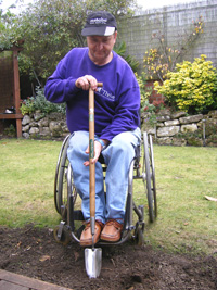 Digging from a wheelchair