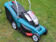 Cordless battery powered rotary mower