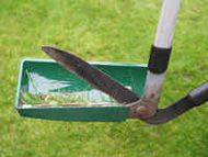 Grass collector for lawn shears