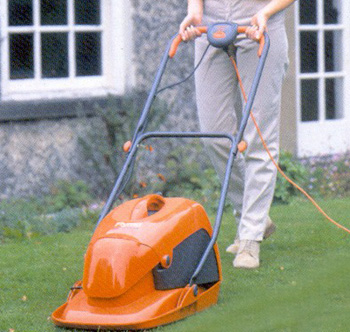 Hover mower with grass box