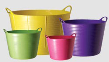 Flexible Rubber Bucket With Handles Recommended By Thrive
